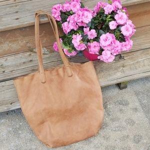 Baggu leather shopping tote bag